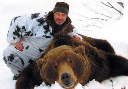 Рекордный трофей камчатского медведя, добытый А.Феоктистовым Фото www.scirecordbook.org