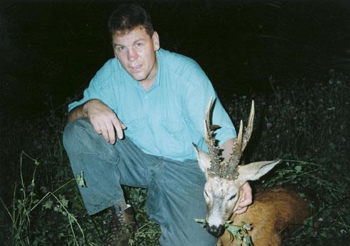 """Второй призер (66"""") среди типичных трофеев европейской косули, добыт Херманном Ватлом в Украине, в 1998 году. Фото www.scirecordbook.org"""