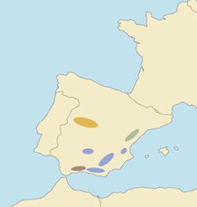 Схема ареалов испанских козерогов, по www.scirecordbook.org
